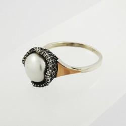 Sidabrinis žiedas su perlu...