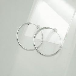 Sidabriniai auskarai 0.9g 18mm
