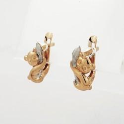 Auksiniai auskarai 1.04g