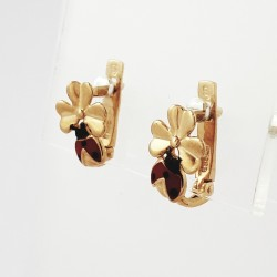 Auksiniai auskarai su emale...