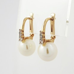 Auksiniai auskarai su perlu...